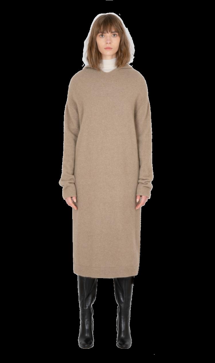 Oatmeal wool dress