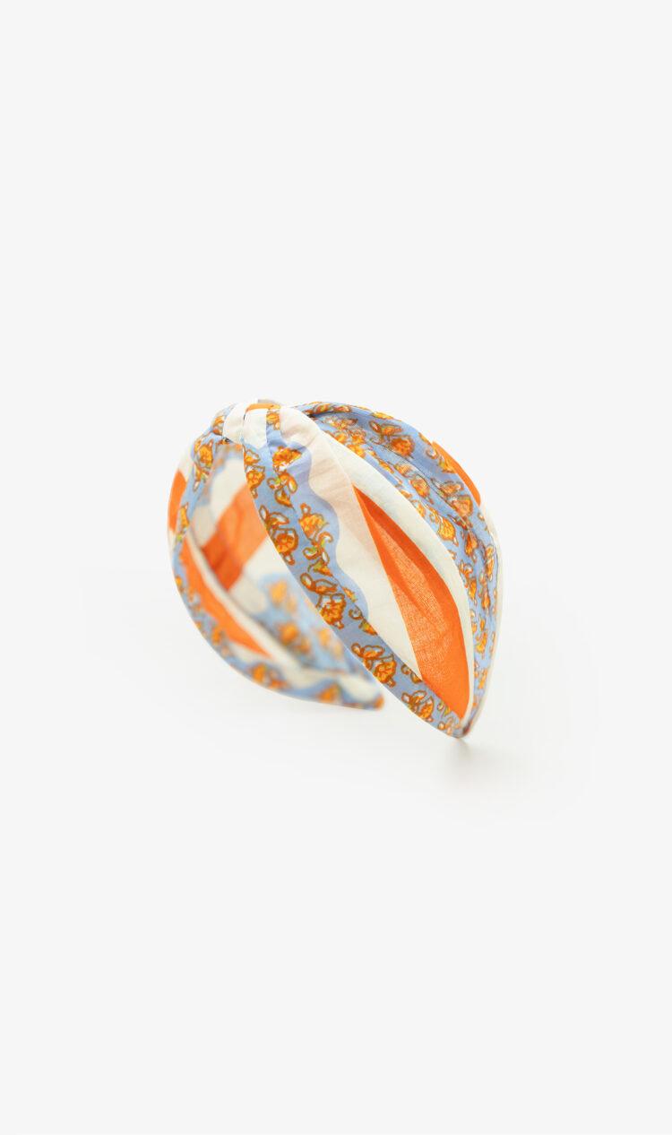 Orange scarf print headband
