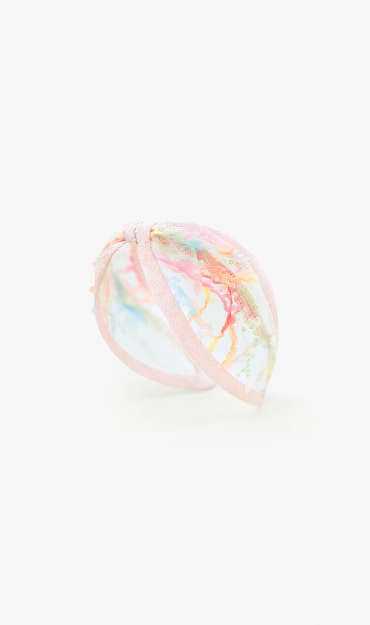 Rainbow lace headband