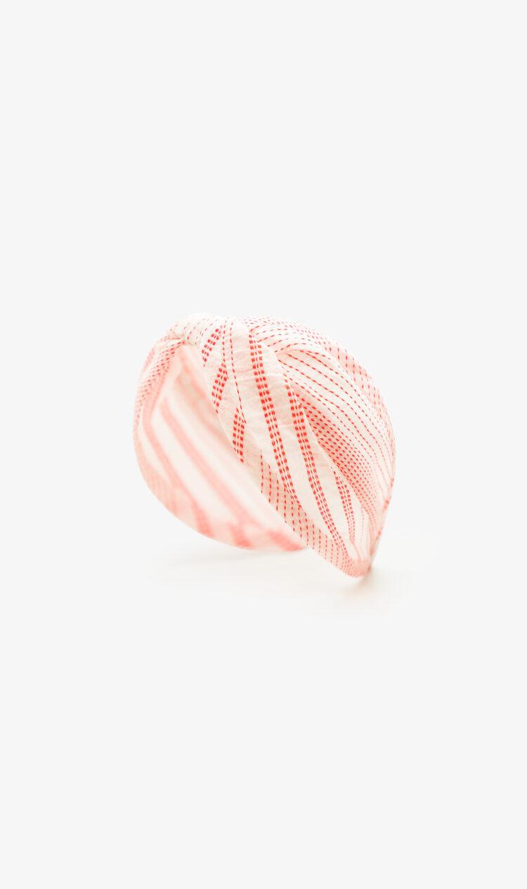 Red dotted stripe headband