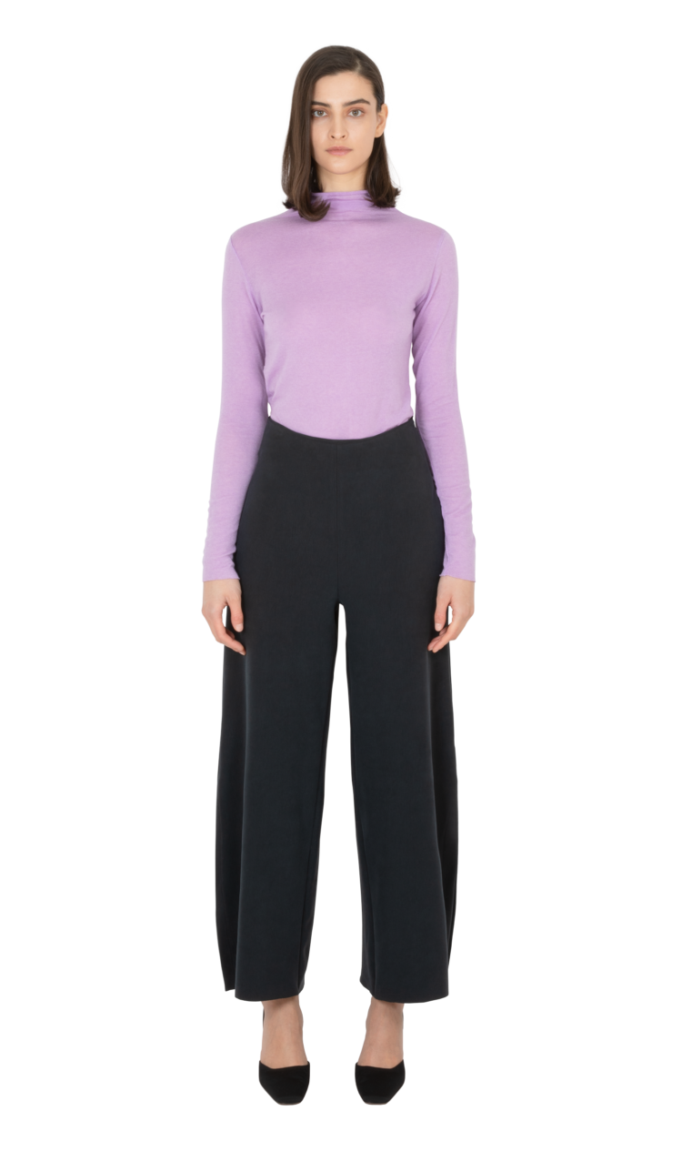 Violet second skin wool blouse