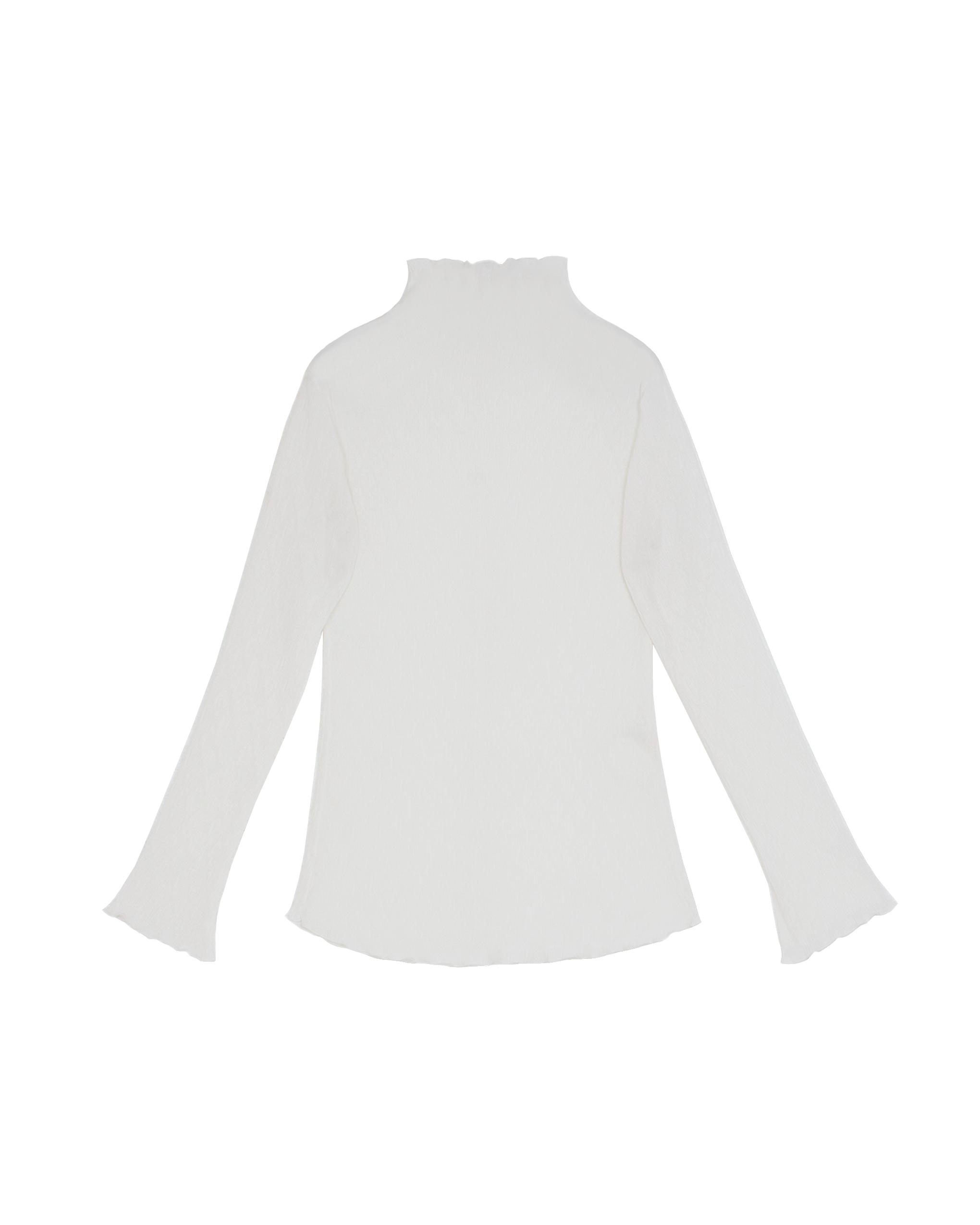 EMIN + PAUL white lettuce edge blouse.