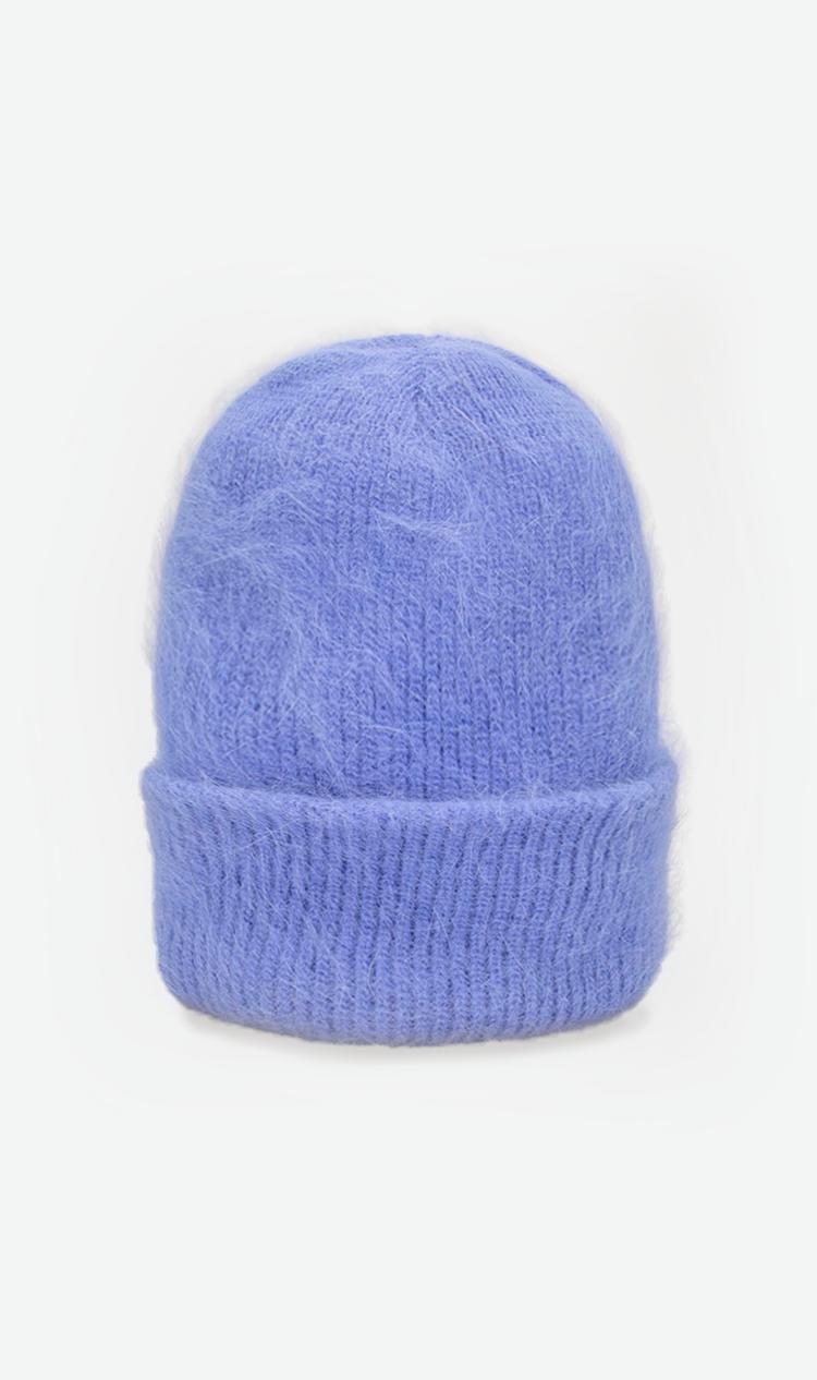 Blue fluffy beanie