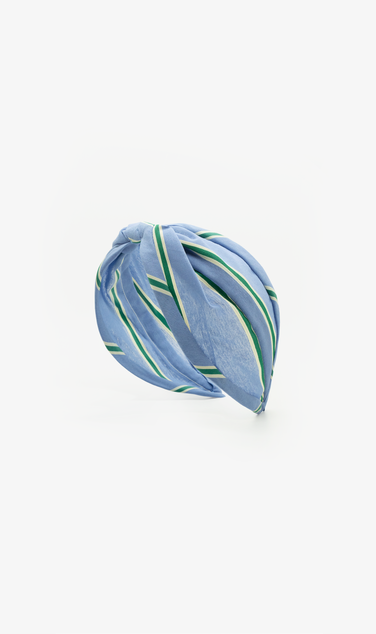 Emerald stripe headband