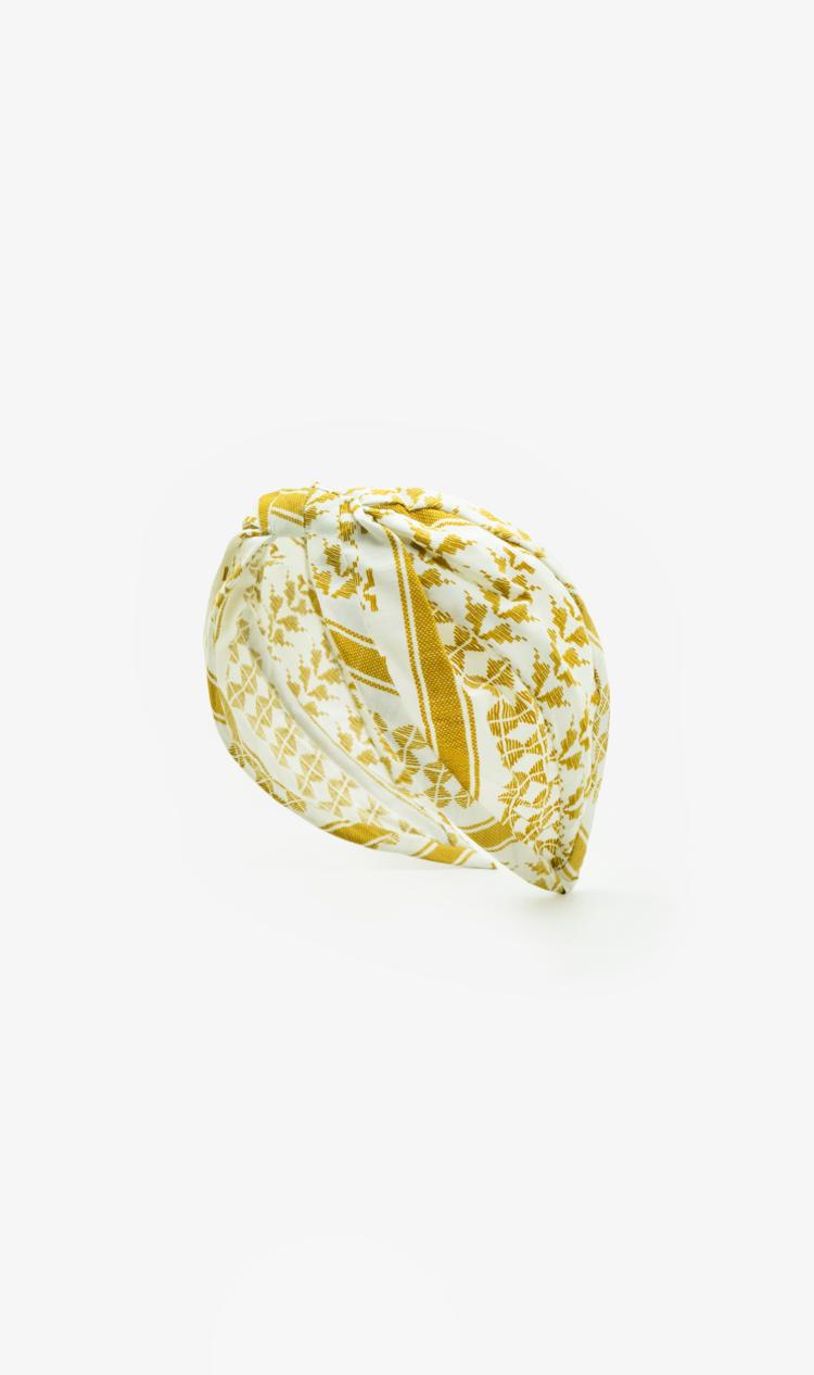 Gold ikat headband