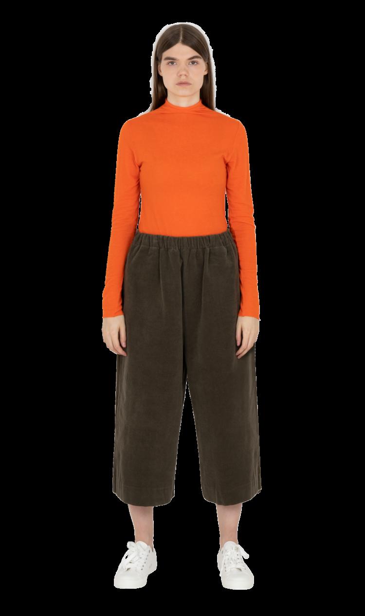 Khaki corduroy culottes