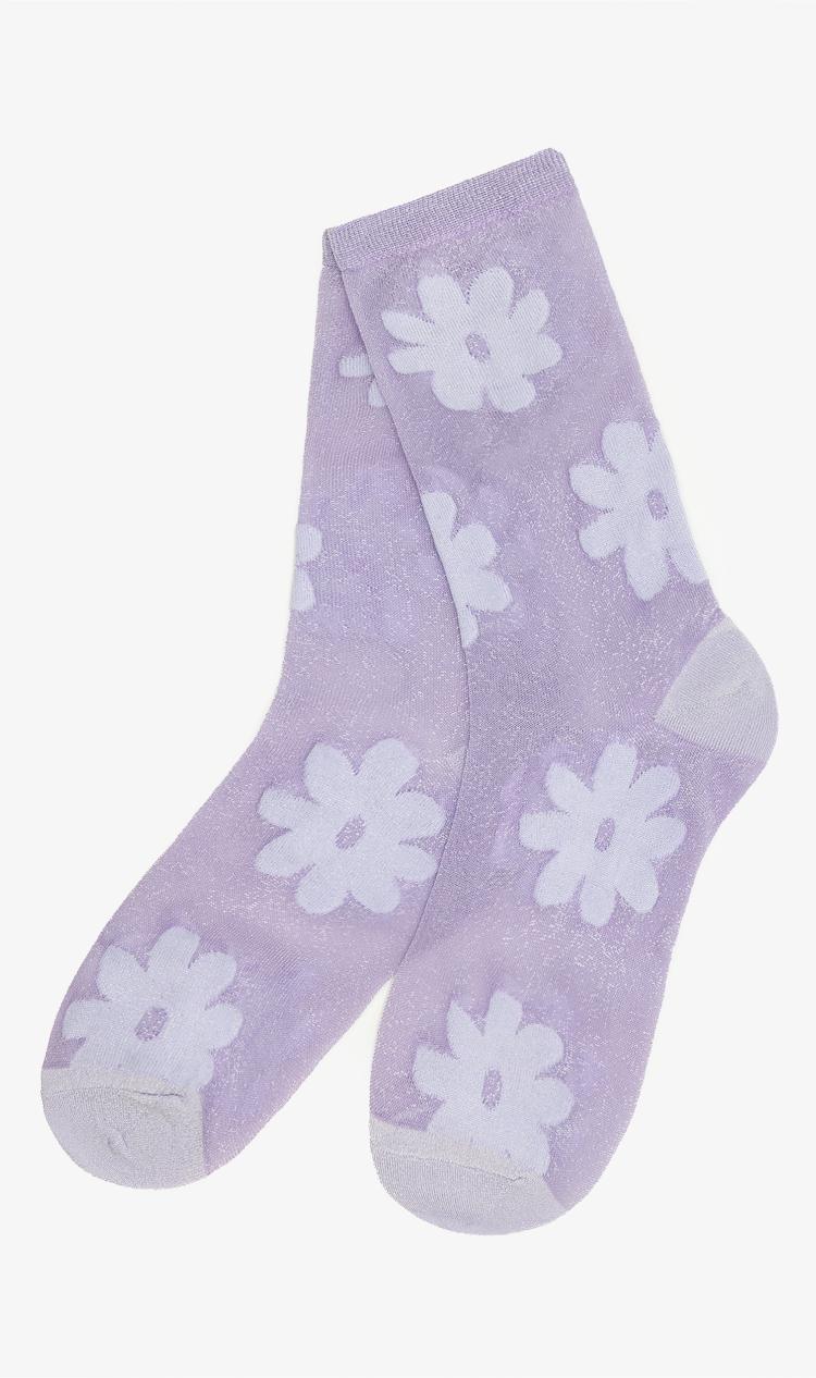 Lilac flower socks