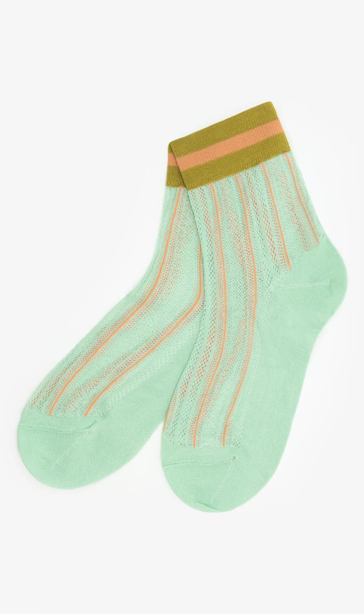 Mint lace ankle socks