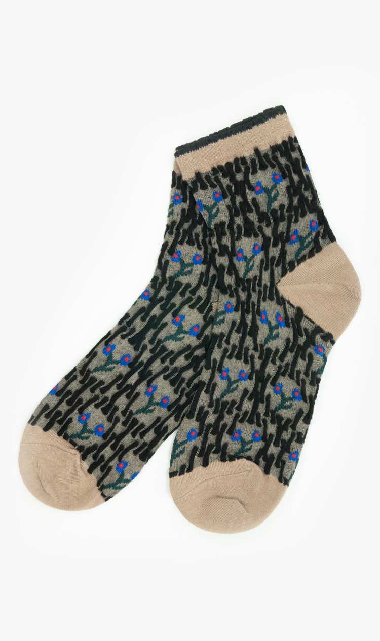 Mole abstract forest ankle socks