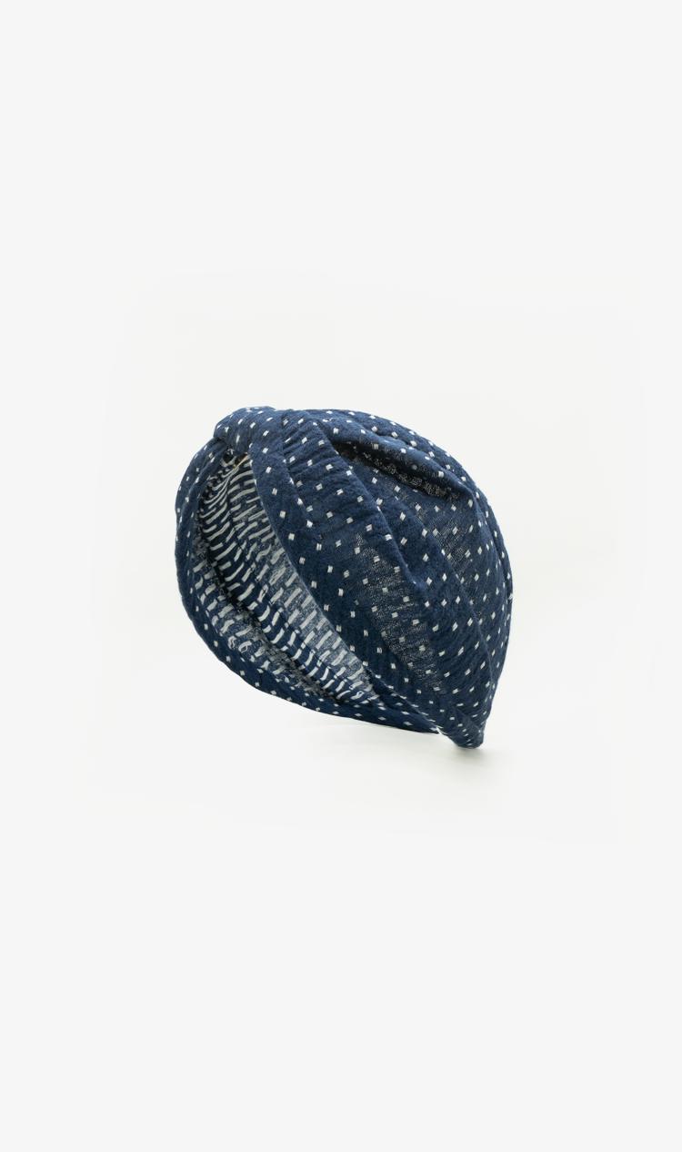 Navy dot headband
