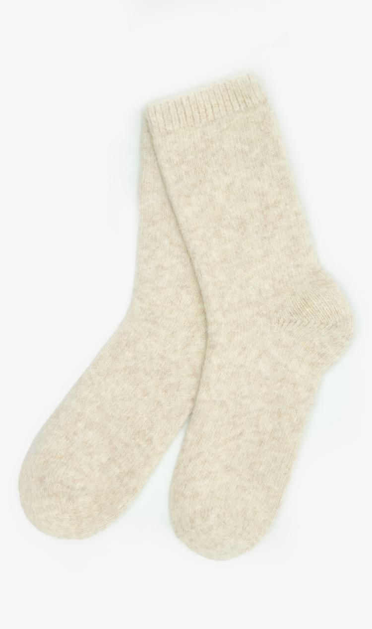 Oatmeal angora socks