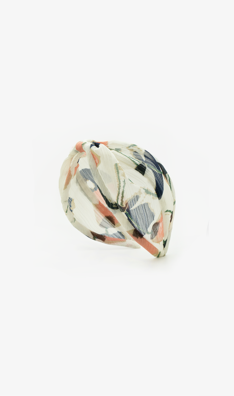 Peach art deco headband