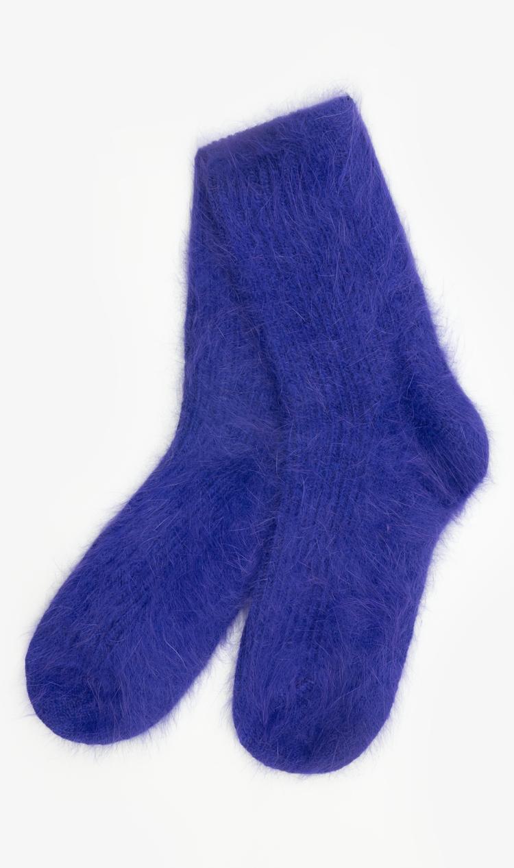 Purple angora socks