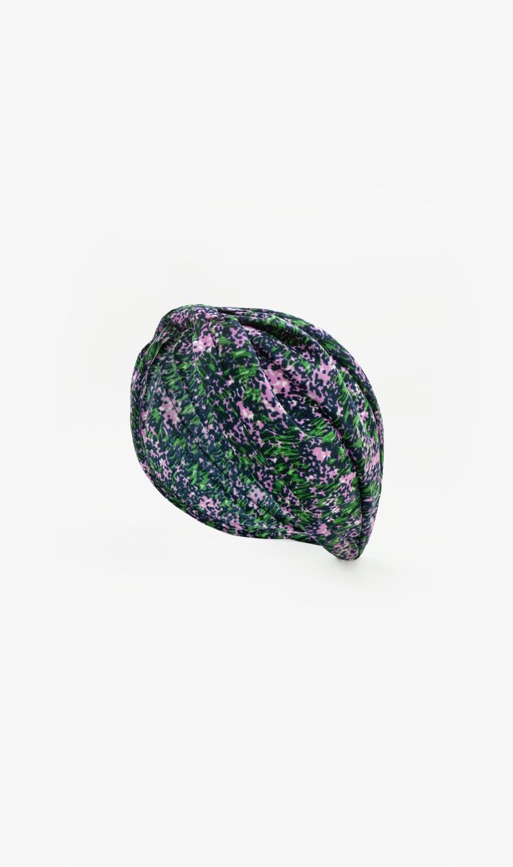 Purple ditsy floral headband