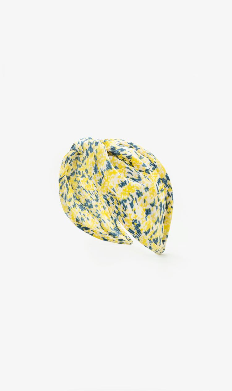 Yellow abstract floral headband