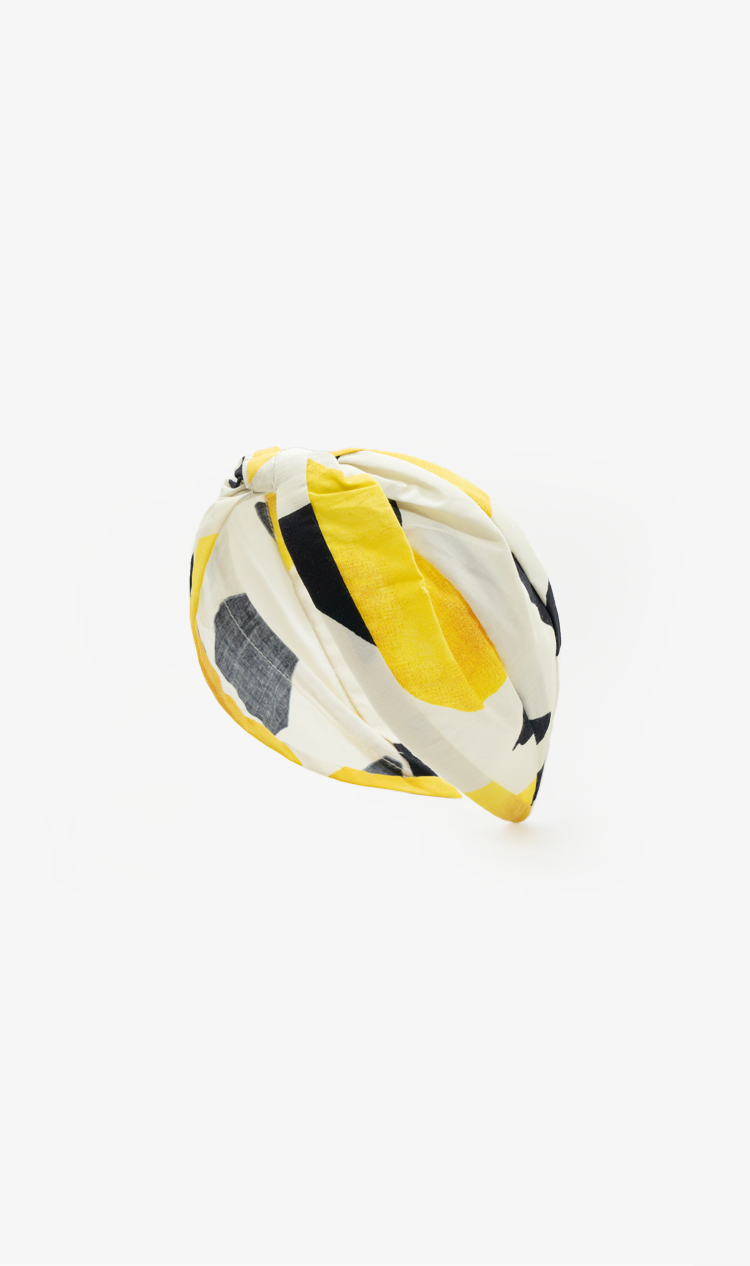 Yellow abstract headband